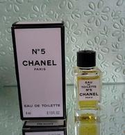"""Miniature """"N°5"""" De CHANEL Eau De Toilette 4 Ml Dans Sa Boite - Miniatures Modernes (à Partir De 1961)"""