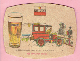 Bierviltje - SUPRA - CHEVALIER MARIN - AMEDEE BOLLEE 1901 - 2 CYL. - 9CV  40 Km - Overmeire - Sous-bocks