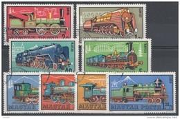 Hongrie 1972  Mi.nr: 2730-2737 Dampflokomotiven  Oblitérés - Used - Gebruikt - Hungary