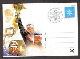 Skiing Federation 85 Estonia 2006 MNH Postal Stationary. Card # 37 World Champions Shmigun, Veerpalu - Estland