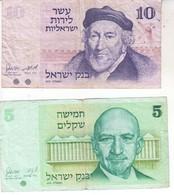 3815  Israel 5 Sheqalim  + 10  LIRA - Suède
