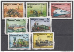Hongrie 1979  Mi.nr: 3343-3349 Entwicklung Der Eisenbahn  Oblitérés - Used - Gebruikt - Hungary