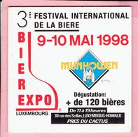 Bierviltje - 3° Bierexpo Luxembourg - 1998 - Munhowen - Howald - Sous-bocks
