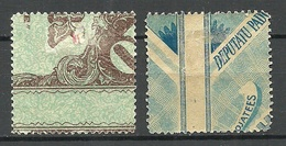 LETTLAND Latvia 1920 Michel 52 Y + Z * Stamp Printed On Bank Notes - Lettonie