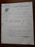 Ancienne Facture. Toulouse. Controle International. 1902. Elie Benoit - France