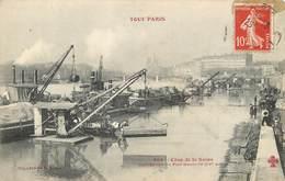 75004 - TOUT PARIS - Crue De La Seine - Port Henri IV - Grue Beau Plan - Arrondissement: 04