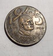 TOKEN GETTONE JETON MEDAGLIA MUSSOLINI 1945 LIRE 20 - Monétaires/De Nécessité