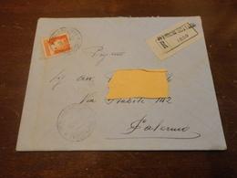 LETTERA RACCOMANDATA CON FRANCOBOLLO DA 1,75 LIRE ISOLATO - 1900-44 Vittorio Emanuele III