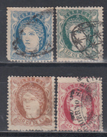 1871  Edifil Nº 21, 22, 23, 24, - Filipinas