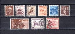 Japón   1952  .  Y&T Nº   506/511-512-516-517 - 1926-89 Emperador Hirohito (Era Showa)