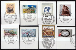 8 Marken, Mit LUXUS-Ersttags-Stempeln BERLIN Auf Briefstücken,perfekt,siehe Scan  !!  30.1-01 - Berlin (West)