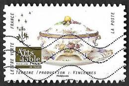 FRANCE   2018 -  YT 1530 -  Arts De La Table - Terrine Vincennes     - Oblitéré - Adhésifs (autocollants)