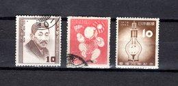 Japón   1952-53  .  Y&T Nº   529-531-532 - 1926-89 Emperador Hirohito (Era Showa)