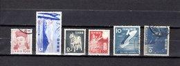Japón   1953  .  Y&T Nº   535-536-538-539-543-546 - 1926-89 Emperador Hirohito (Era Showa)