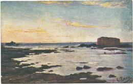 W1242 Libia Tripoli - Forte Spagnuolo - Giovanni Rava Dipinto Paint Peinture Illustrazione Illustration / Non Viaggiata - Libia