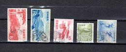 Japón   1953-54  .  Y&T Nº   547/548-549-550-551 - 1926-89 Emperador Hirohito (Era Showa)