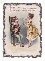 Chromo  CHOCOLAT POULAIN   Enfants, Mandoline    Musique - Poulain