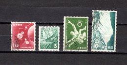 Japón   1954  .  Y&T Nº   552-553-554-556 - 1926-89 Emperador Hirohito (Era Showa)