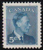 """CANADA - Scott #293 King George VI """"POSTES POSTAGE"""" Omitted (*) / Used Stamp - Used Stamps"""