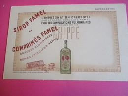 Buvard/Médicaments/Laboratoires FAMEL/ Sirop, Comprimés, Dragées/ Rue Des Orteaux , Paris /Vers 1950-1970    BUV377 - Produits Pharmaceutiques