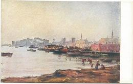 W1245 Libia - Tripoli - La Dogana - Giovanni Rava Dipinto Paint Peinture Illustrazione Illustration - Libia