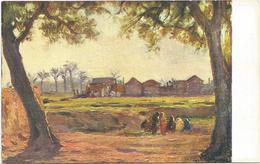 W1246 Libia - Tripoli - Fuori Le Mura - Giovanni Rava Dipinto Paint Peinture Illustrazione Illustration - Libia