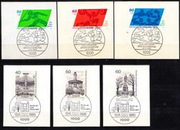 621/23 + 634/36 Mit LUXUS-Ersttags-Stempeln BERLIN Auf Briefstücken,perfekt,siehe Scan  !!  26.1-24 - Berlin (West)