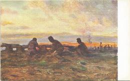 W1248 Libia - Tripoli - Allle Trincee - Giovanni Rava Dipinto Paint Peinture Illustrazione Illustration - Libia