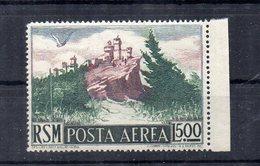 San Marino - 1950 -Vedute - Posta Aerea - Lire 500 - Con Bordo Di Foglio - Nuovo ** - Vedi Foto - (FDC14253) - Poste Aérienne