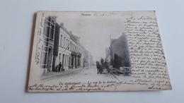 *HAMME  De Stationstraat -La Rue De La Station ( Attelage) Oblitéré En 1902 - Hamme