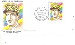 DeGaulle ( FDC De Wallis Et Futuna De 1990 à Voir) - De Gaulle (Général)