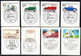 660/63 + 664/65 + 659 + 666 Mit LUXUS-Ersttags-Stempeln BERLIN Auf Briefstücken,perfekt !!  26.1-26 - Berlin (West)
