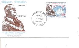 DeGaulle ( FDC De Polynésie De 1990 à Voir) - De Gaulle (Général)