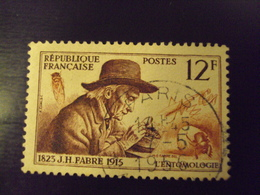 """A Partir De 1945 - Timbre Oblitéré N°   1055   """"  Fabre     """"         Net 0.80   Photo  4 - France"""