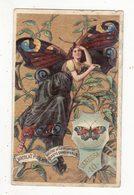 Chromo  CHOCOLAT POULAIN    Femme Papillon    Vanessa - Poulain