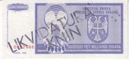 3820     KNIN  5000000000   DINARA - Croatia