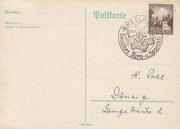 Germany Deutsches Reich Sonderstempel BRESLAU Deutsches Turn- U. Sportfest Card Karte - Deutschland