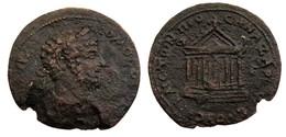 [H] +++ AE28 - Anazarbos / Anazarbus CILICIA - Commodus Tempel Temple RR! +++ - 3. Röm. Provinz