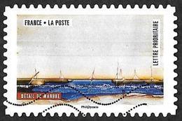 FRANCE 2018  -  YT 1503 - Oeuvres De La Nature: Détail De Marbre   -  Oblitéré - Adhésifs (autocollants)