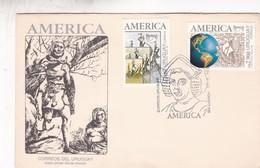 AMERICA-FDC 1992  URUGUAY- BLEUP - American Indians