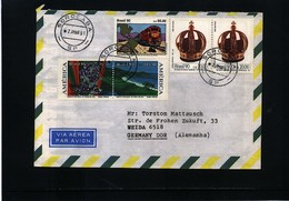 Brazil 1991 Interesting Airmail Letter - Brasilien