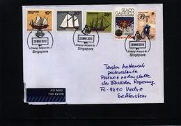 Singapore 2010 Interesting Airmail Letter - Singapur (1959-...)