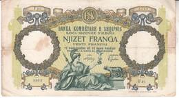 3821     Geldschein, Albania, 20 Franga, - Albania