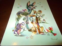 B716  Illustrazione Di Animali Non Viaggiata - Illustratori & Fotografie