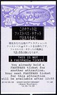 JAPAN 2018 - TOKYO DISNEYLAND - BUZZ LIGHTYEAR'S ASTRO BLASTERS - ENTRANCE TICKET - Tickets D'entrée