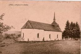 Cpa Belgique /Pr.de Luxembourg  LIMES  L'église St Jean-Baptiste (1709) Et Le Cimetière, Dos Vierge, Peu Courante - Belgique