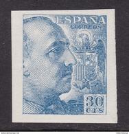ESPAÑA 1940 - General Franco Sello Nuevo Sin Fijasellos Edifil Nº 924s SIN DENTAR -MNH- - 1931-Hoy: 2ª República - ... Juan Carlos I
