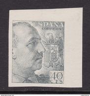ESPAÑA 1940 - General Franco Sello Nuevo Sin Fijasellos Edifil Nº 925s SIN DENTAR -MNH- - 1931-Hoy: 2ª República - ... Juan Carlos I