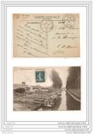 2438 FRD60 AK/PC/CPA/60/MAREUIL SUR OURCQ/LA SCIERIE ET LE CANAL/1921/TTB MER/EPICERIE/1910/TTB - Francia