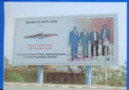 Südsudan SOUTH SUDAN Postcard Signboard Near Juba Airport, Mint, Locally Published Soudan Du Sud #3 - Soudan